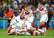Goal Mario Götze  Coupe du monde 2014 Stock Images