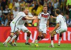 Goal Mario Götze  Coupe du monde 2014 Royalty Free Stock Photos