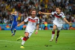 Goal Mario Götze  Coupe du monde 2014 Stock Image