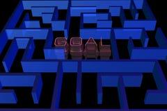 Goal maze concept Stock Photos