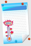 Goal Meter Notepad Royalty Free Stock Photography