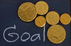 Goal and money Stock Image