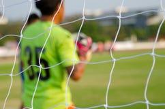 Goal net football Stock Images