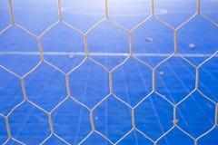 Goal net with futsal field Royalty Free Stock Photo