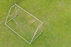 Goal nets torn Stock Image