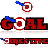 Goal and objective icons Royalty Free Stock Images