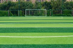 Goal of outdoor soccer field. Goal of an outdoor soccer field Royalty Free Stock Photo