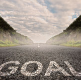 Goal painted on asphalt Royalty Free Stock Image