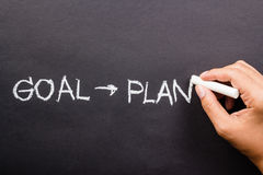 Goal and plan Stock Photos