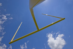 Goal post Stock Image