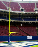 Goal Post in Old Giants Stadium, Meadowlands, NJ Royalty Free Stock Photos