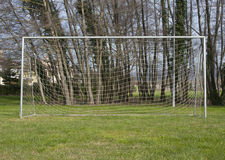 Goal post. At the park Stock Photography