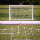 Goal posts. In an outdoor recreational area, selective focus on nearest Royalty Free Stock Images
