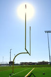 Goal Posts on American Football Field Stock Photos