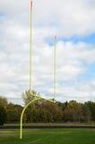 Goal Posts on American Football Field Stock Photos