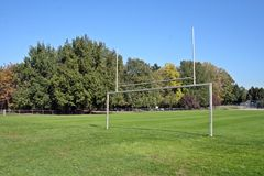 Goal Posts in a Field Royalty Free Stock Photos