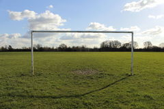 Goal Posts On A Field In The Sun Stock Image