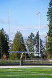 Goal Posts at Football Field Royalty Free Stock Images