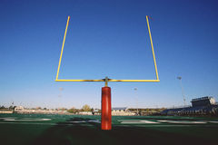 Goal posts on football  stadium Stock Image