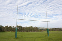 Goal Posts. Rugby goal posts on a sports field Stock Images