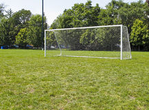 Goal Posts on soccer field Stock Photography