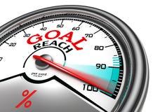 Goal reach conceptual meter Stock Image