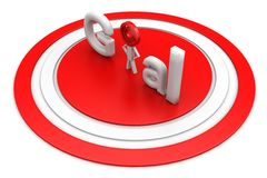 Goal In Red Circle Target Stock Images