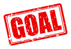 GOAL red stamp text Royalty Free Stock Image