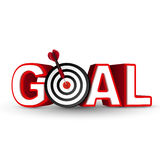 Goal red word and conceptual target with arrow Royalty Free Stock Image