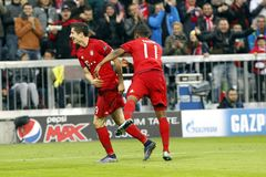 Goal Robert Lewandowski   Bayern Munich Stock Image