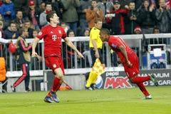 Goal Robert Lewandowski   Bayern Munich Royalty Free Stock Photography