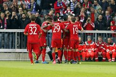Goal Robert Lewandowski   Bayern Munich Stock Photography