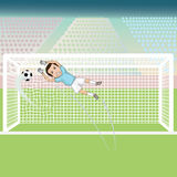 Goal score. Illustration of a soccer goal, soccer match goal Stock Images
