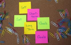 Goal setting motivation Royalty Free Stock Photos