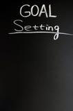 Goal setting. Written with chalk on a blackboard royalty free stock photo