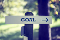 Goal signboard Stock Photo