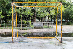 Goal soccer. Defective rusty sports Stock Photography
