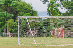Goal. On the soccer field Royalty Free Stock Photo