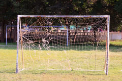 Goal soccer. Net goal soccer keeper relate Stock Images