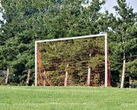 Goal. Soccer net in a park Royalty Free Stock Photos