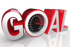 Goal Speedometer Quickly Racing to Success Achievement Royalty Free Stock Images