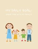Daily goal: Spend time with my family Stock Photo