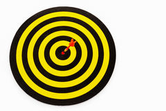 Goal target with arrow in bullseye Royalty Free Stock Photo