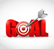 Goal and target and dart. Illustration design over a white background Royalty Free Stock Photo
