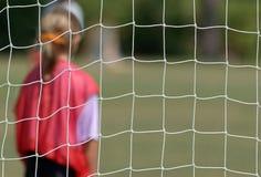 Goal Tender. Youth soccer team  goal tender Royalty Free Stock Photo