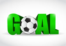 Goal text and soccer ball illustration design Stock Photo