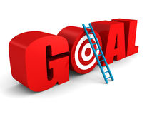 GOAL text with target and success ladder Stock Image