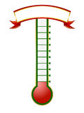 Goal thermometer Royalty Free Stock Photo