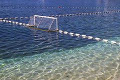 Goal on water polo playground Stock Images