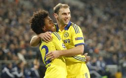 Goal William FC Schalke v FC Chelsea 8eme Final Champion League Royalty Free Stock Image